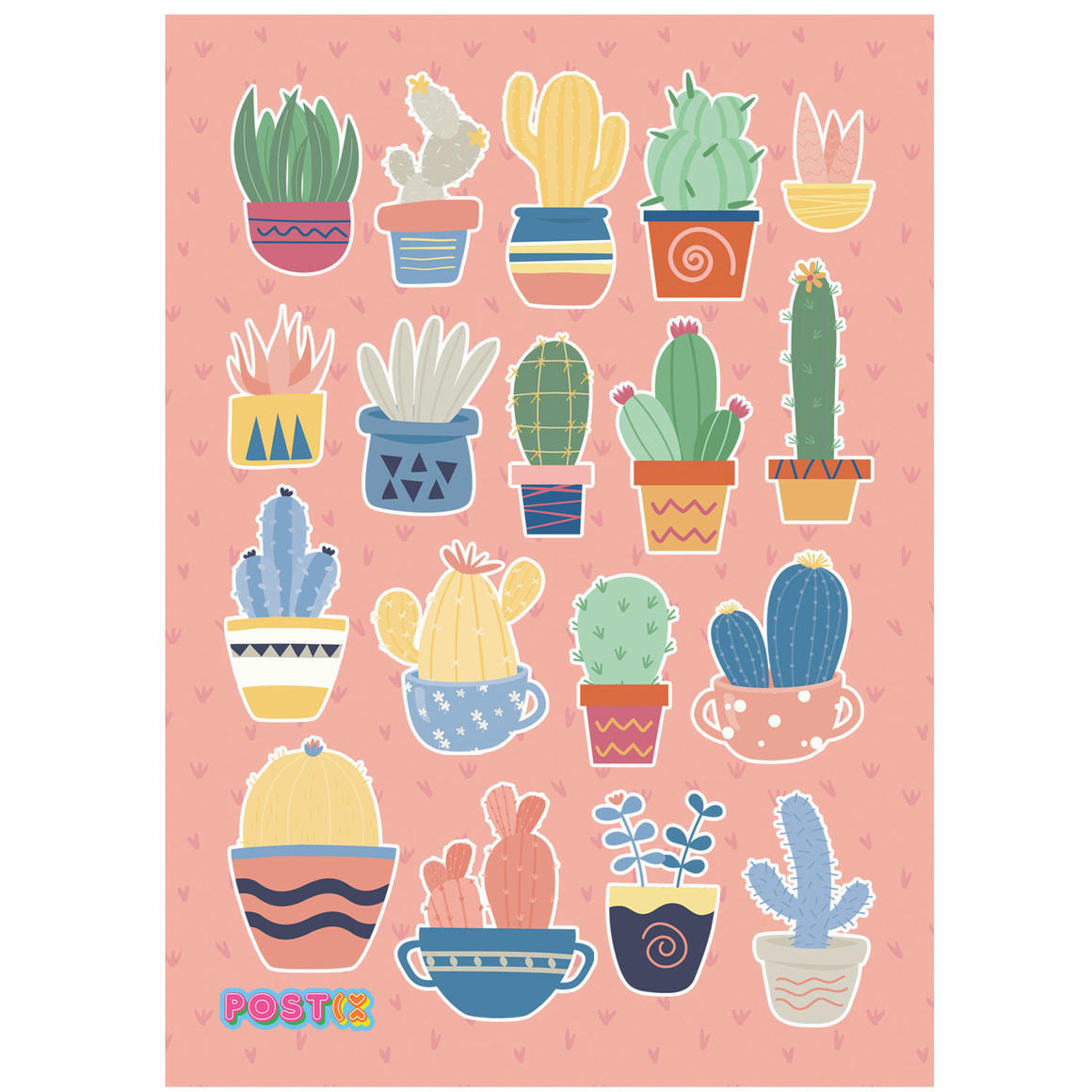 CACTUS COLLECTION A6 GLOSSY STICKER SHEET   Trada Marketplace