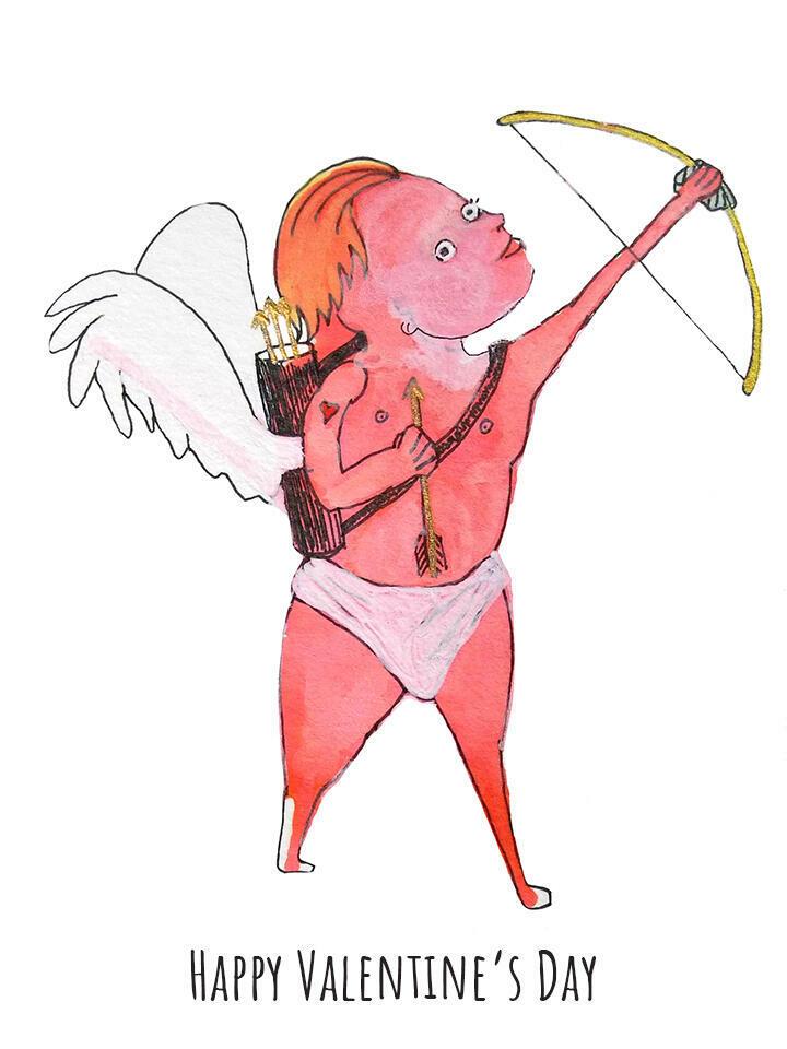 Happy Valentine's Day Cupid   Trada Marketplace