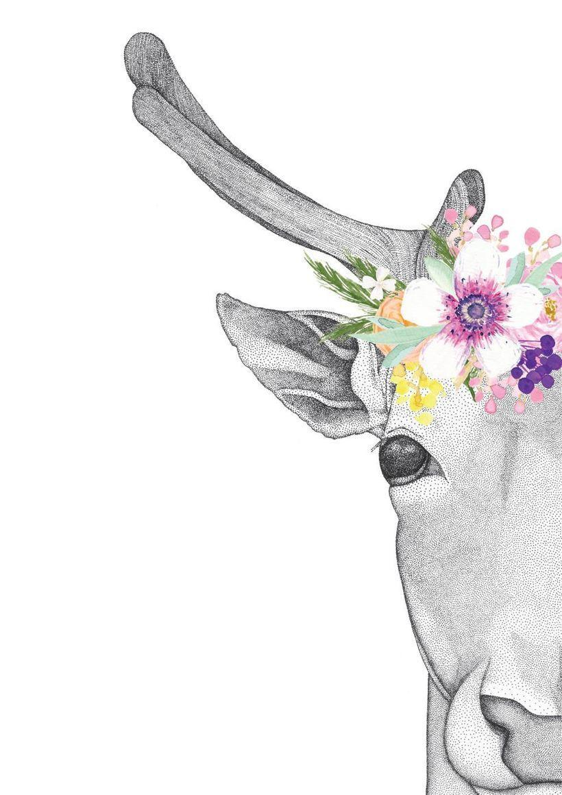 Daphne the Deer with Flower Crown   Trada Marketplace