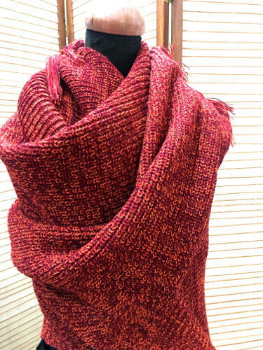 Knitted Wrap with fringes | Trada Marketplace