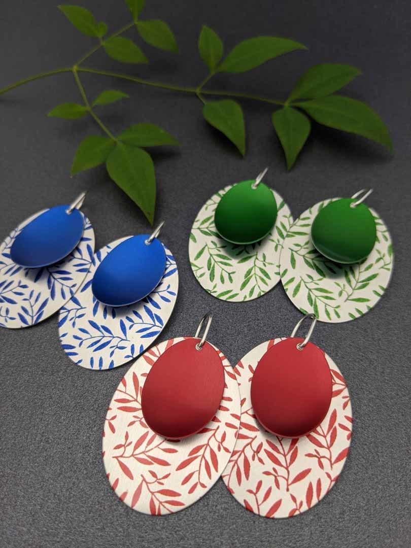 FOLIAGE – large double oval earrings   Trada Marketplace