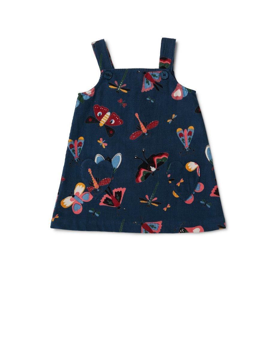 Greta A Line Dress Butterfly Navy | Trada Marketplace