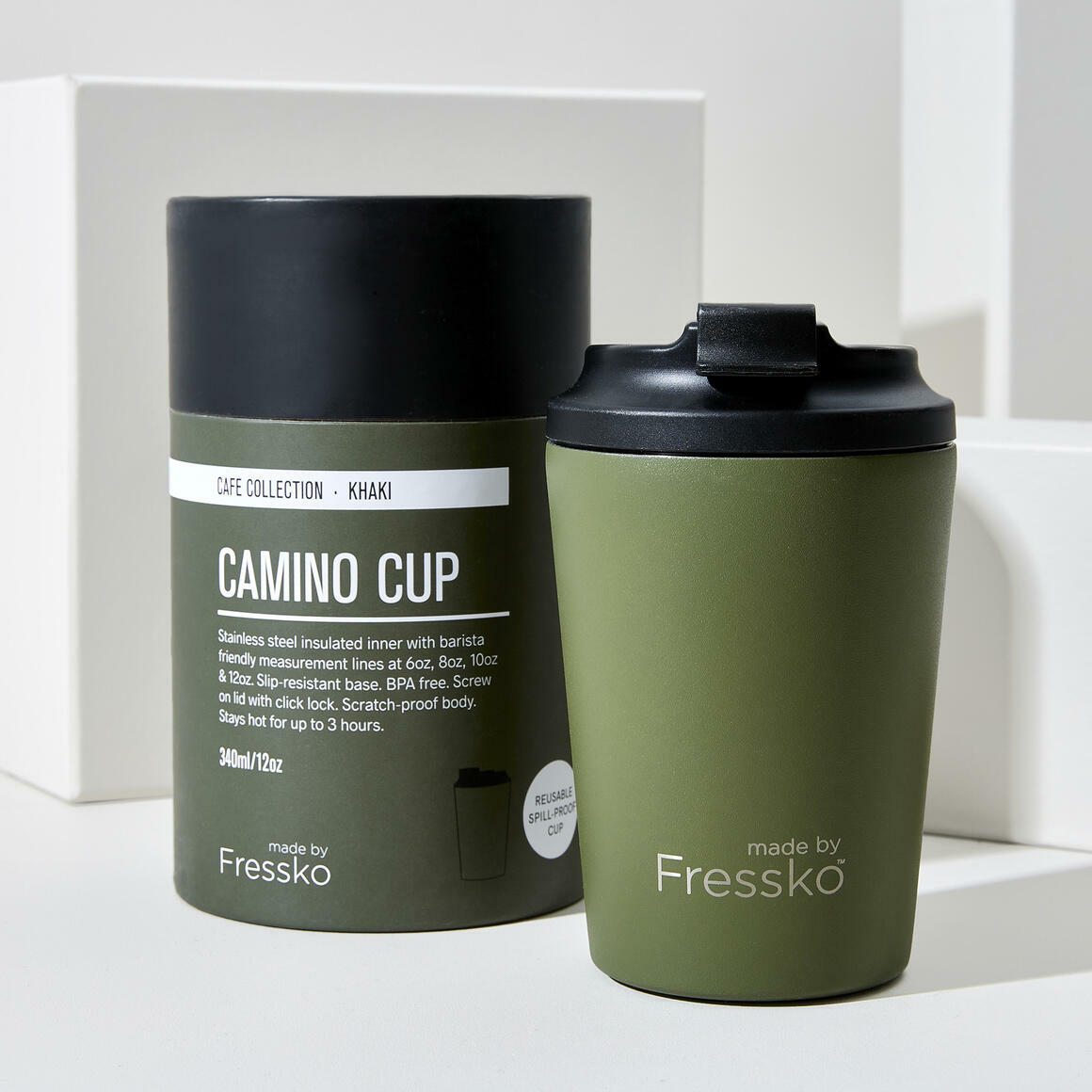 Fressko CAMINO Stainless Steel Reusable Cup GREEN | Trada Marketplace