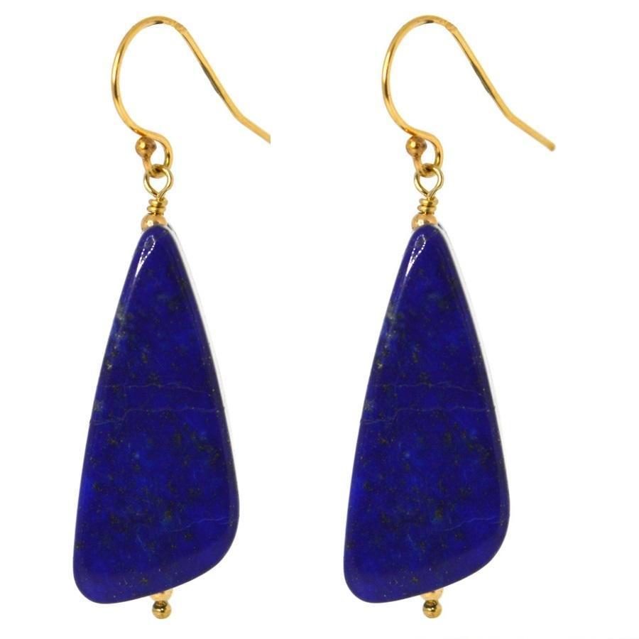 Patite Lapis Lazuli Teardrop Gold Earrings | Trada Marketplace