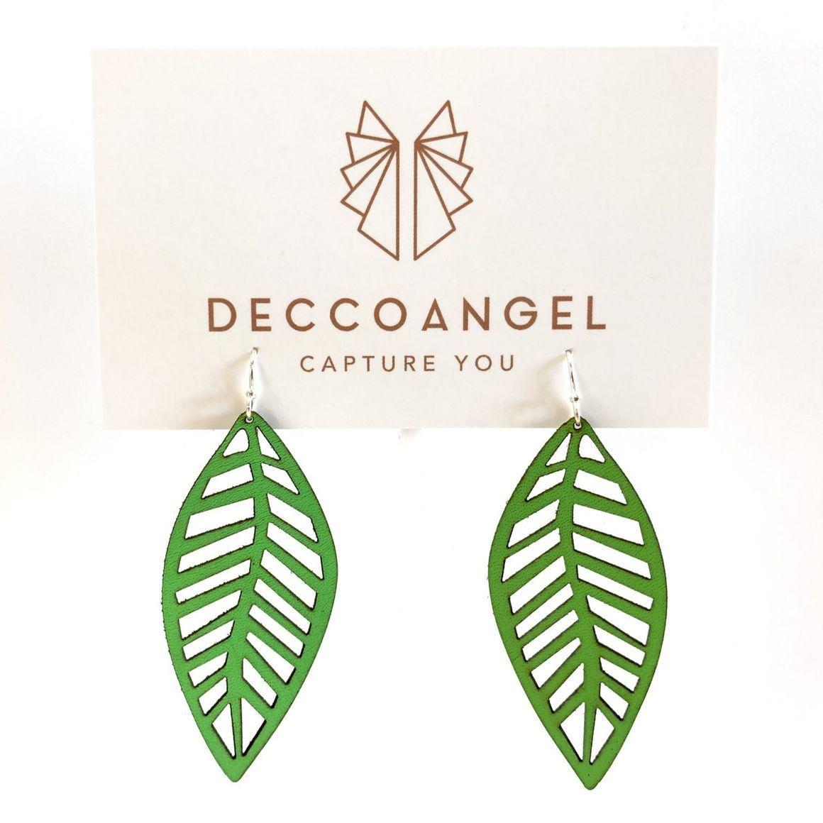 Leaf Print Earrings Large | Trada Marketplace