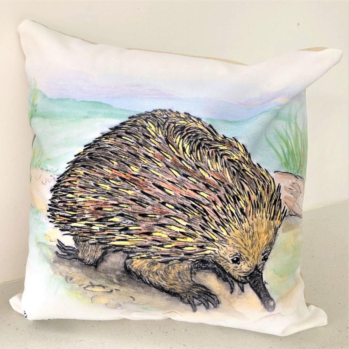 Cushion Cover - Kirra the Echidna   Trada Marketplace