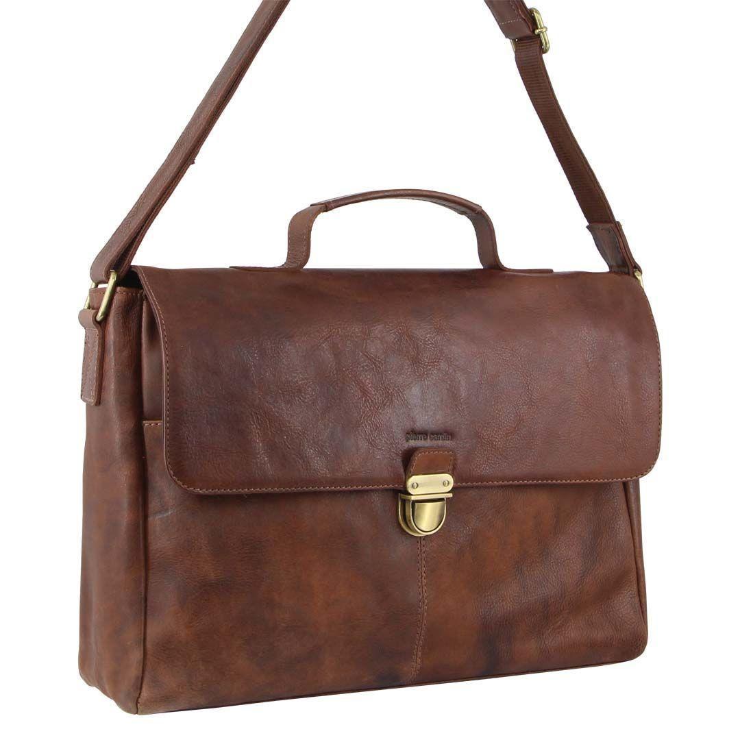 Pierre Cardin Rustic Leather Computer Bag   Trada Marketplace