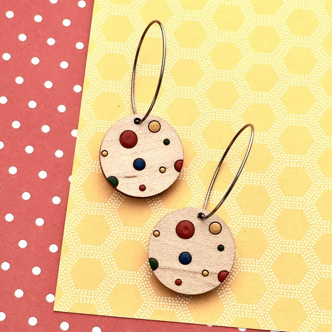 Everyday Confetti Mini Hoop Earrings - Dots   Trada Marketplace