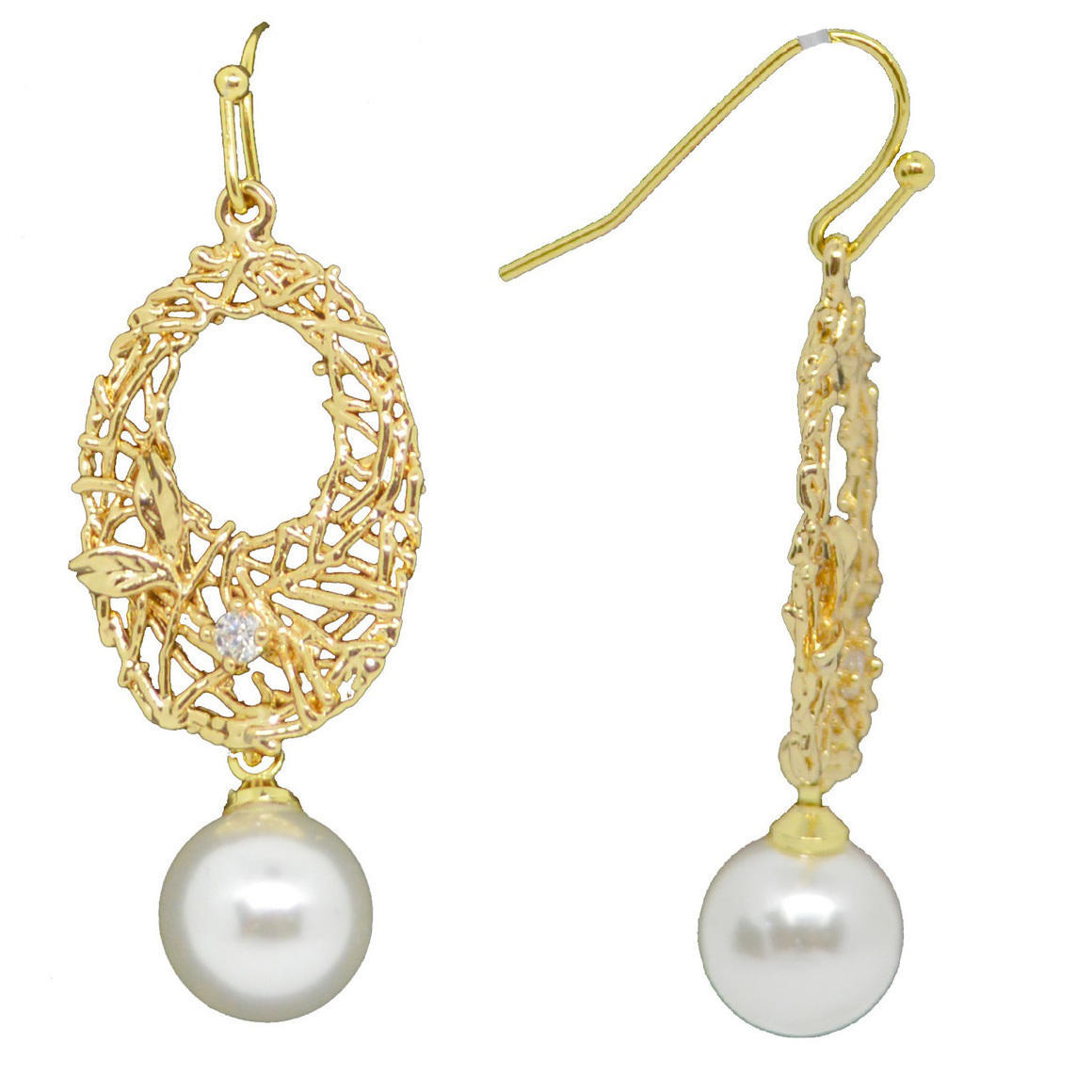 Secret Window CZ and Pearl Earrings | Trada Marketplace