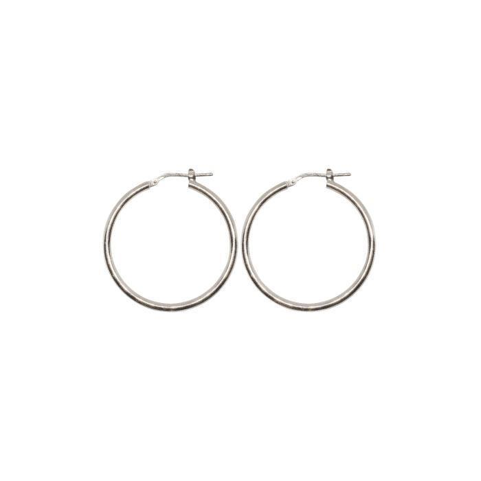 30mm Sterling Silver Gypsy Hoop Earrings - Silver, Gold and Rose gold  | Trada Marketplace