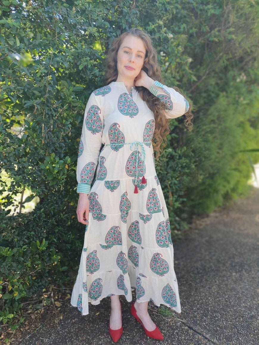 Chinar - Paisley Tiered Long Dress | Trada Marketplace
