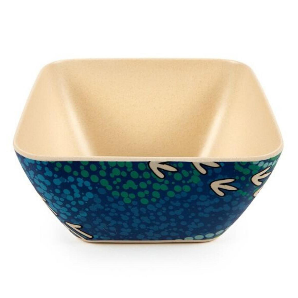 Bowls Bamboo Aboriginal Design - Wet Design - Luther Cora  (Set of 2)   Trada Marketplace