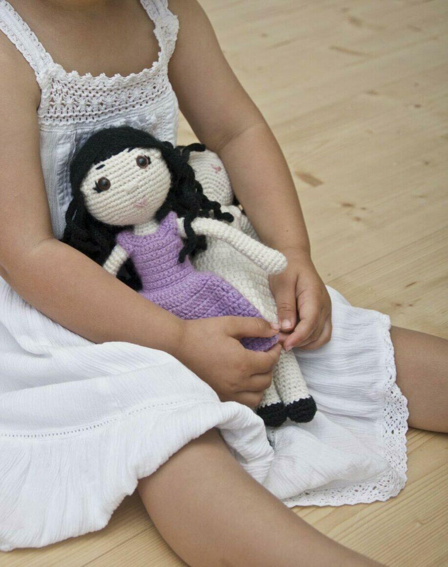 CROCHET DOLL - Little Frida Purple Dress | Trada Marketplace