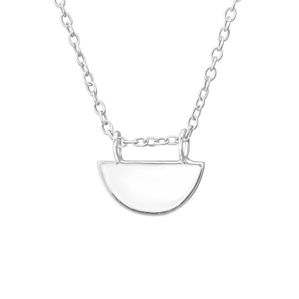 Half Moon Necklace - Sterling Silver | Trada Marketplace