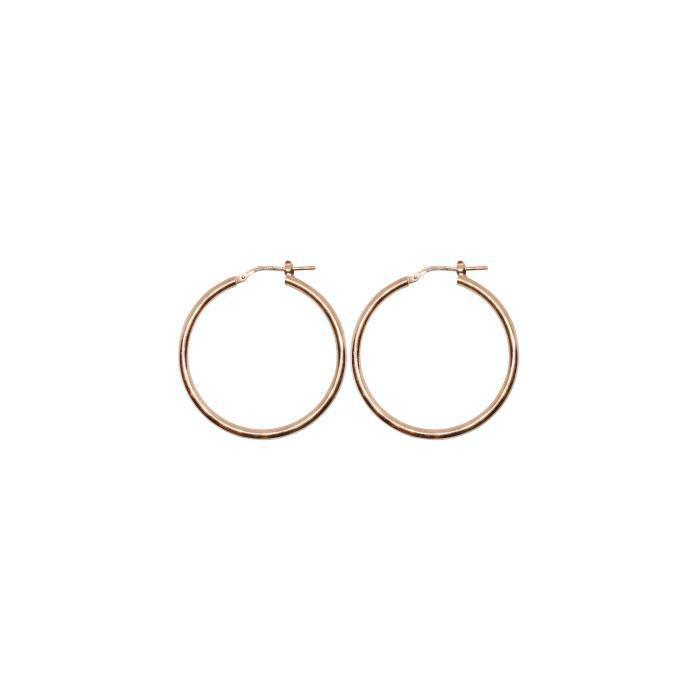 20 mm Sterling Silver Gypsy Hoop Earrings - Silver, Gold and Rose gold  | Trada Marketplace