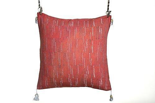 Dhari Pink Zari Cushion | Trada Marketplace