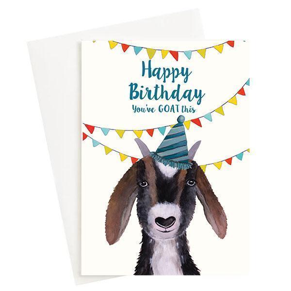 Happy Birthday You Goat This Greeting Card Cream   Trada Marketplace