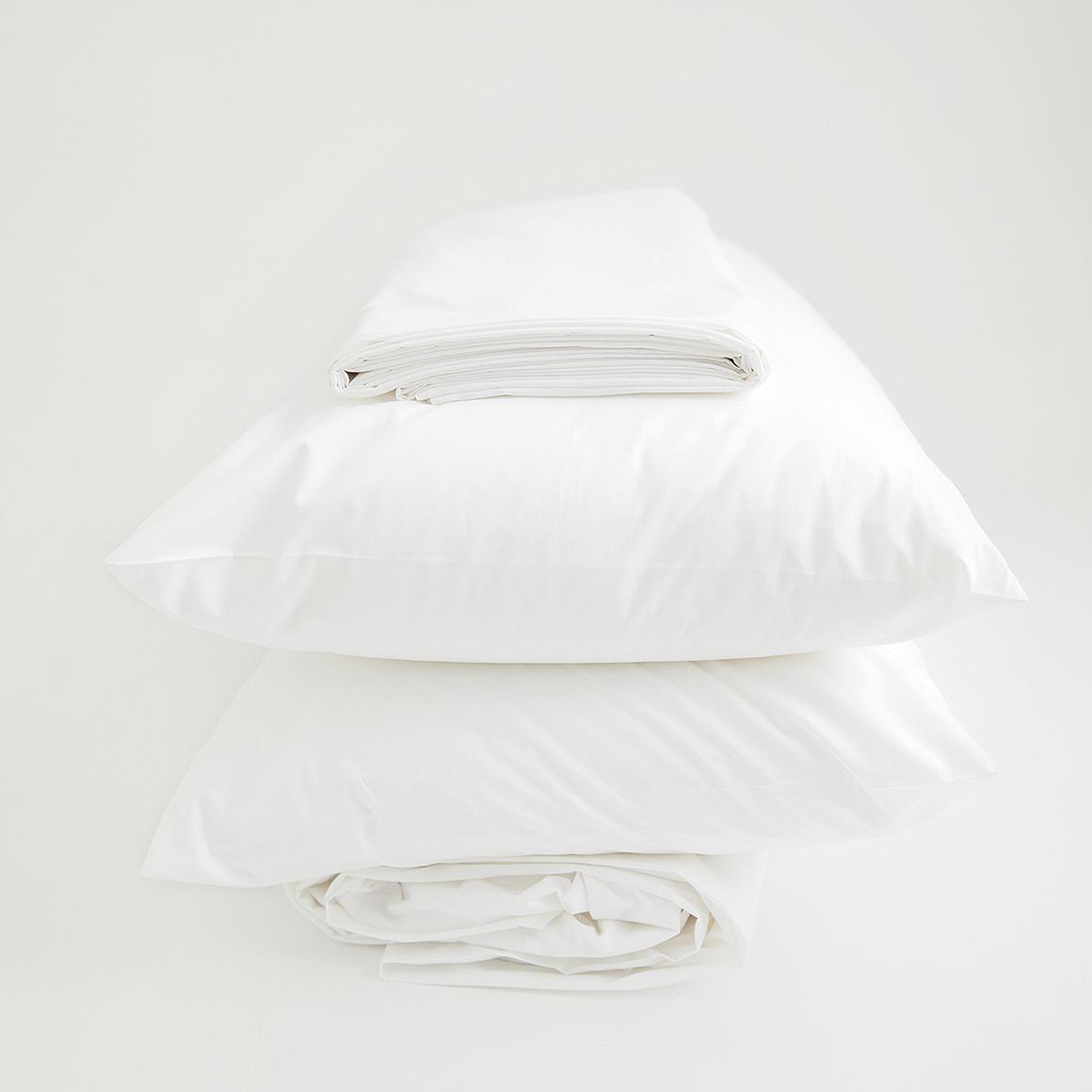 Organic Sheet Set, linen white   Trada Marketplace