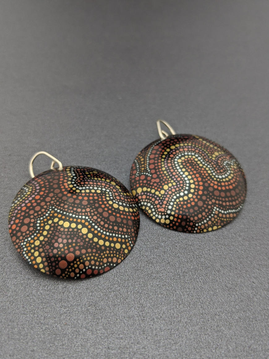 ESSENCE AT DUSK – large domed earrings   Trada Marketplace