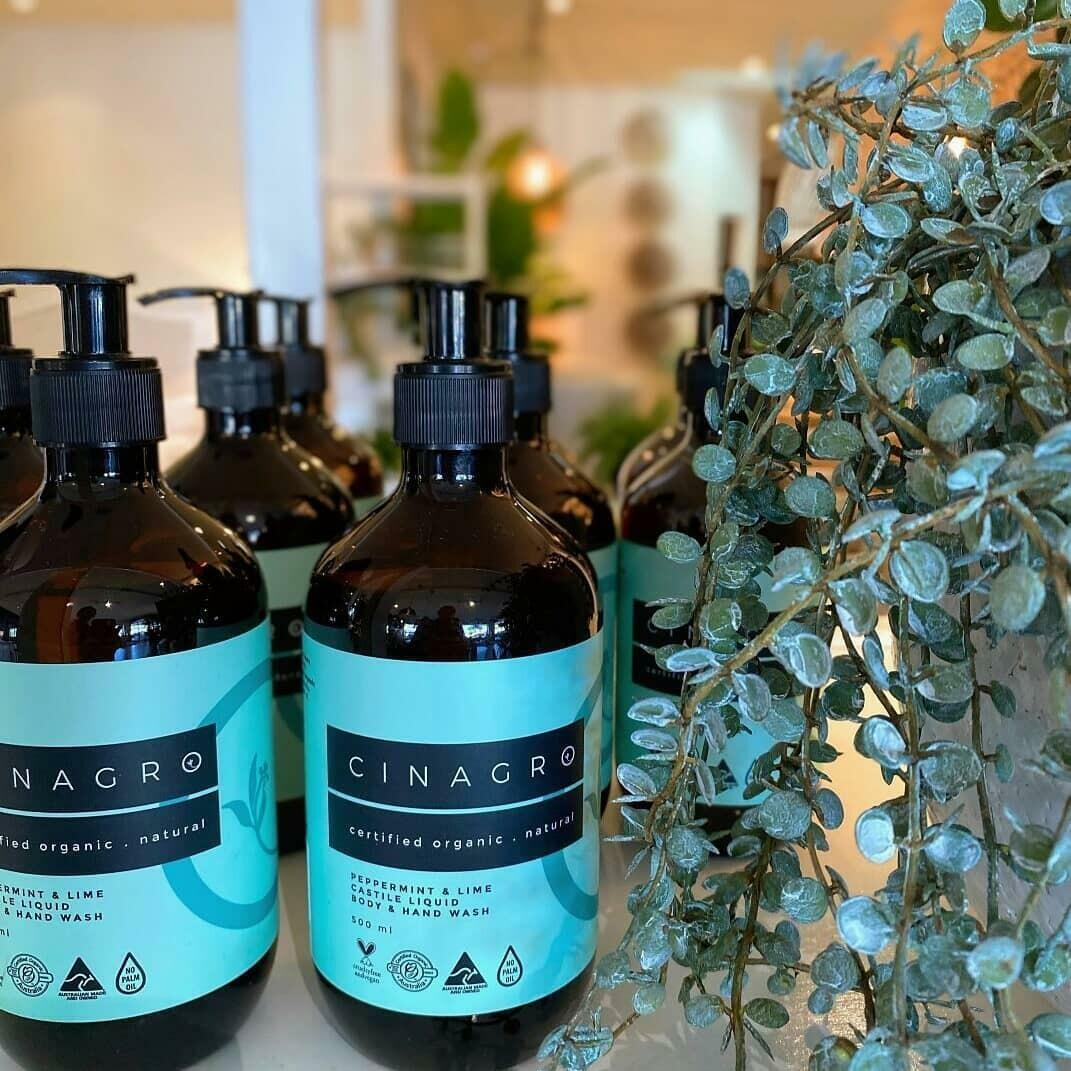 Certified Organic Peppermint & Lime Liquid Castile Body & Hand Wash | Trada Marketplace