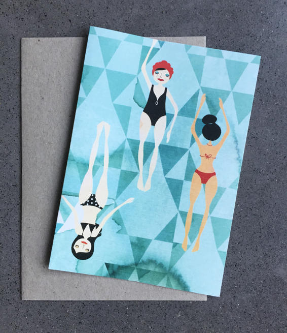 Winter Swim Card | Trada Marketplace