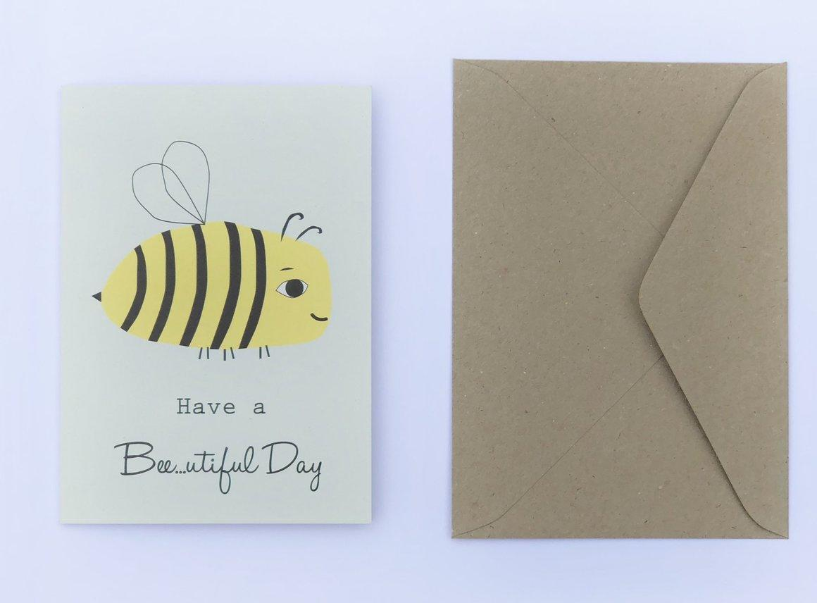 Have a Bee...utiful Day 100% Recycled Greeting Card | Trada Marketplace