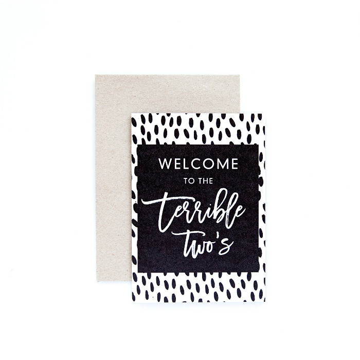 Terrible 2's Card | Trada Marketplace