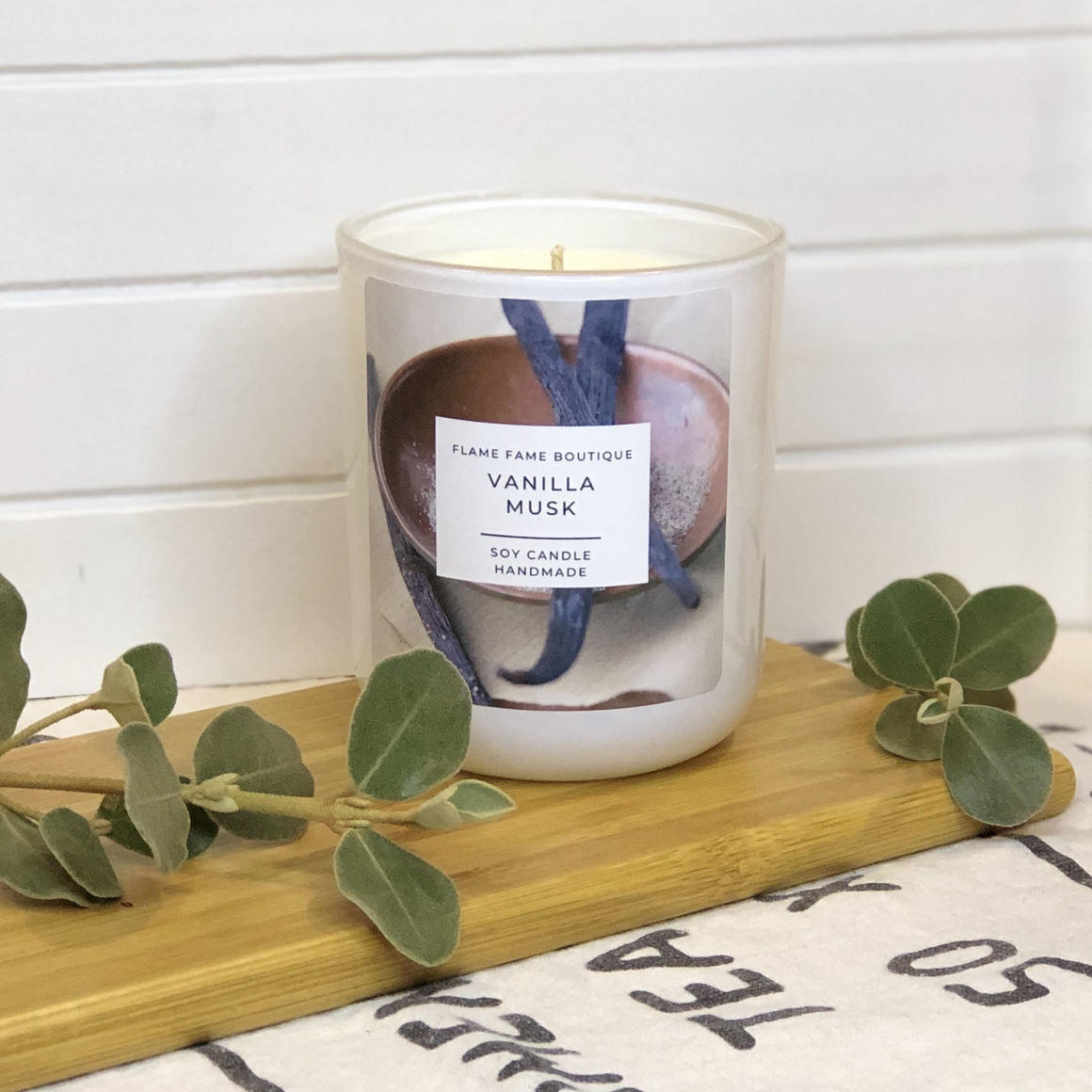 Vanilla Musk Candle Jar   Trada Marketplace