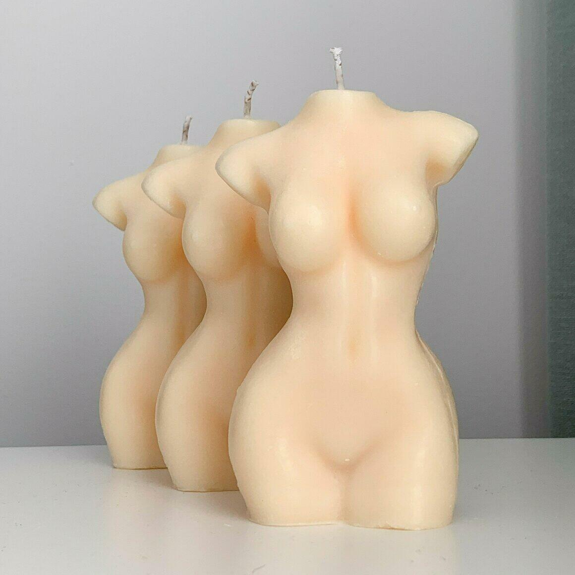 Woman Body Soy Wax Candle in Bare | Trada Marketplace
