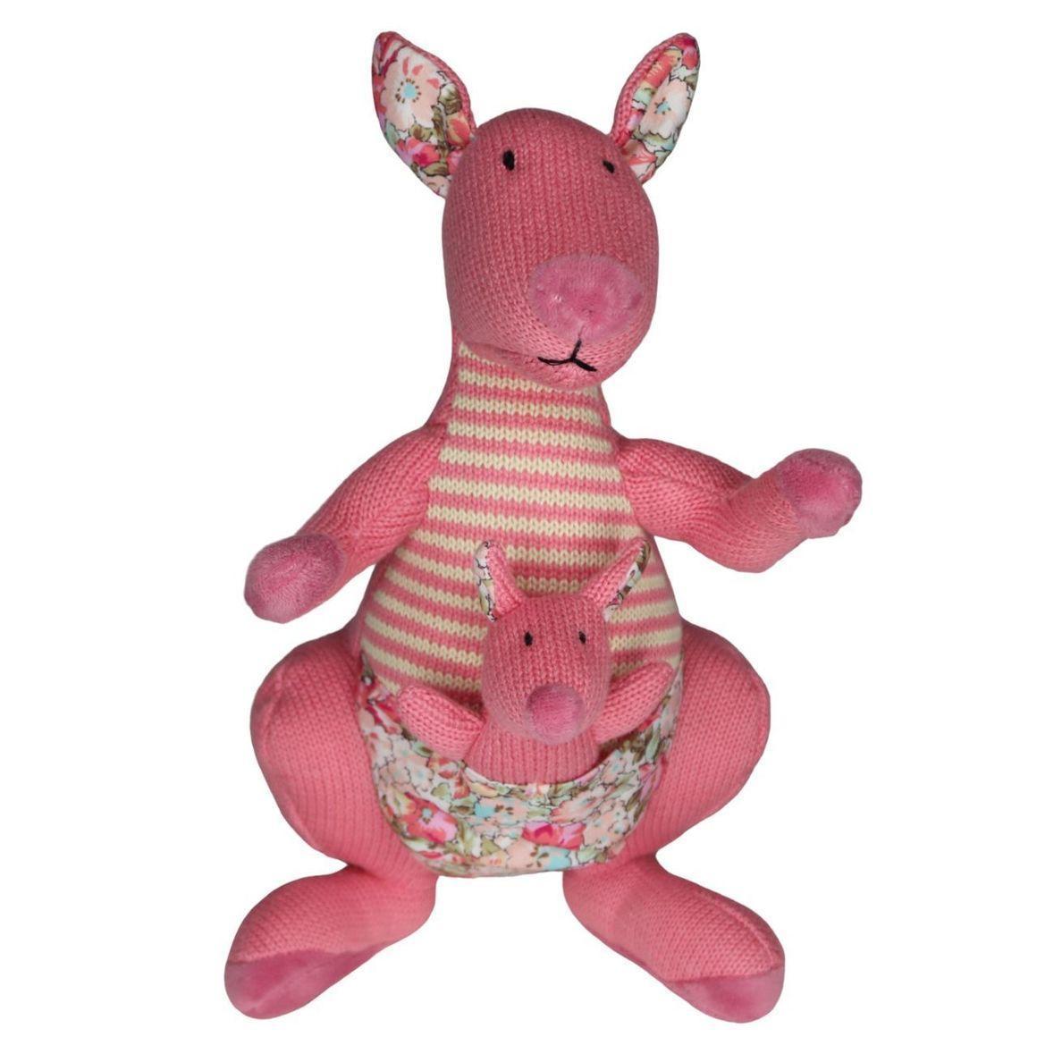 Plush Kangaroo & Baby Joey - Pink    Trada Marketplace
