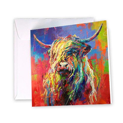 Highland Cow Greeting Card | Trada Marketplace