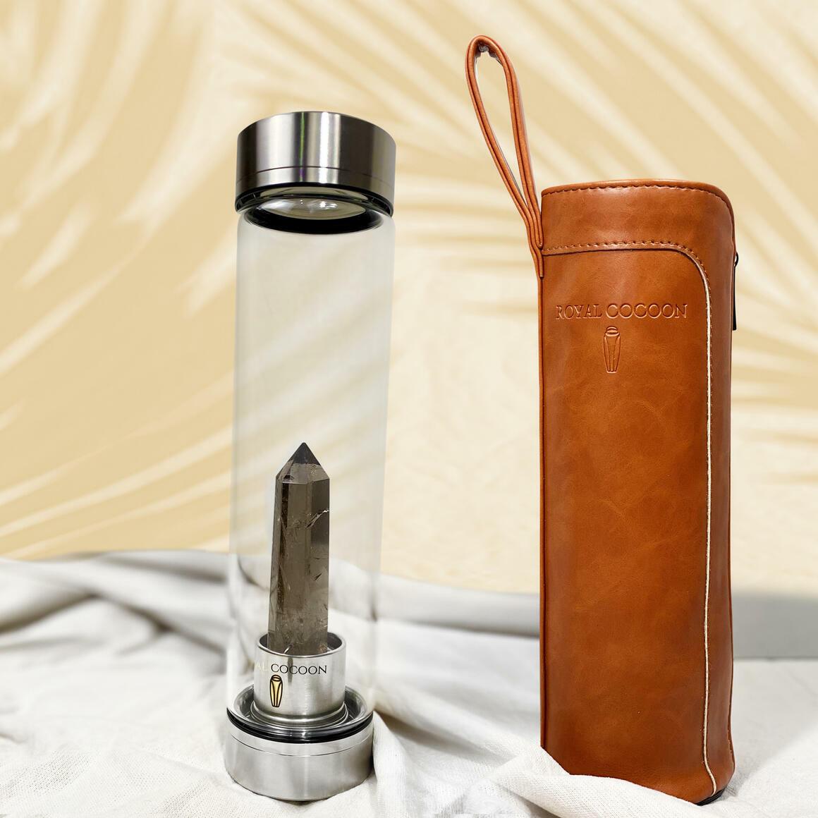 Smoky Quartz ☽ Energy Rich Hydration Bottle - Stainless Steel   Trada Marketplace