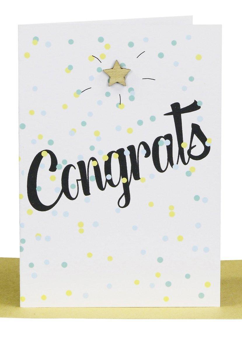 Congratulations Gift Card- Confetti & Star | Trada Marketplace
