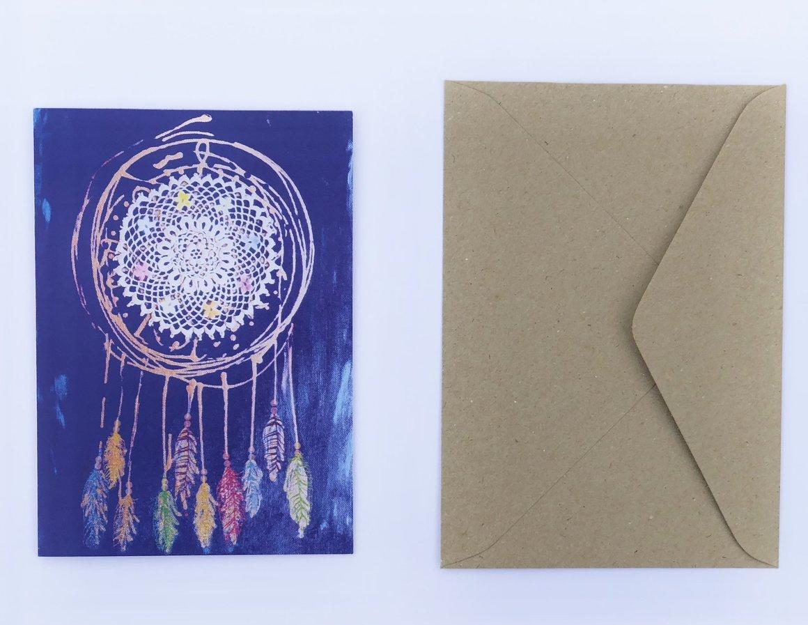 Dream catcher 100% Recycled Greeting Card | Trada Marketplace