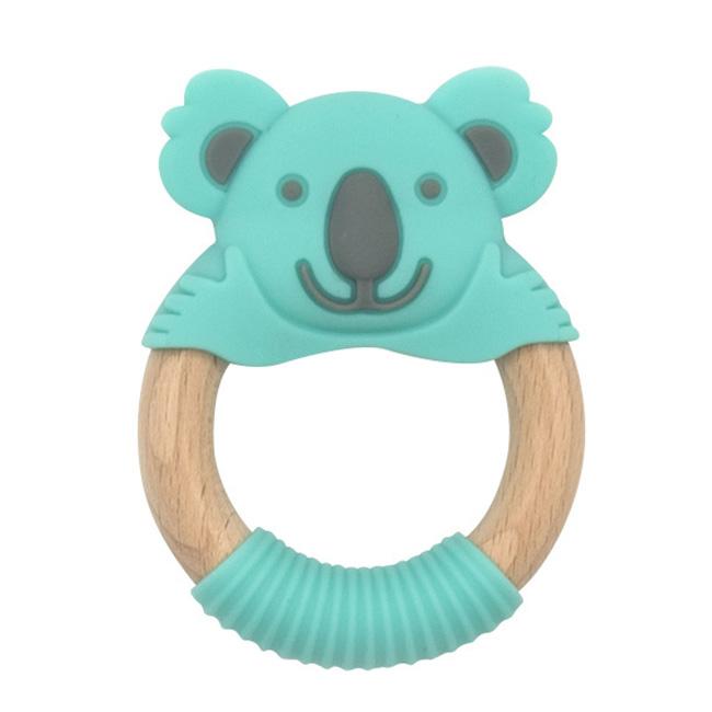 BibiBaby Teething Ring - Kenny Koala - Mint and Grey   Trada Marketplace