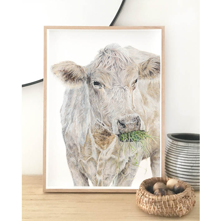 Cow Print + Frame | Trada Marketplace