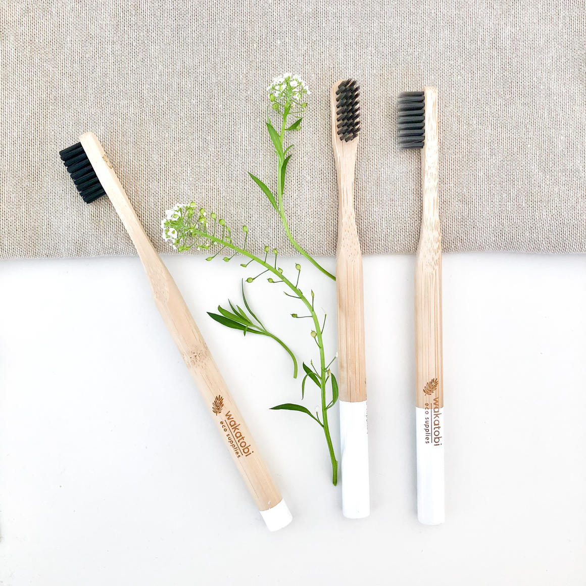 Charcoal Infused Bamboo Toothbrush   Trada Marketplace