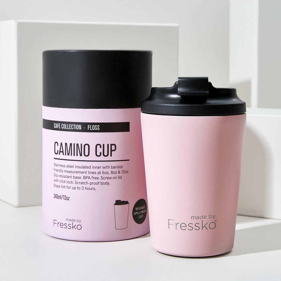 Fressko CAMINO Stainless Steel Reusable Cup PINK | Trada Marketplace