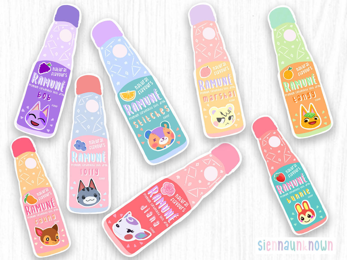 Animal Crossing drink Artprint and sticker | Trada Marketplace