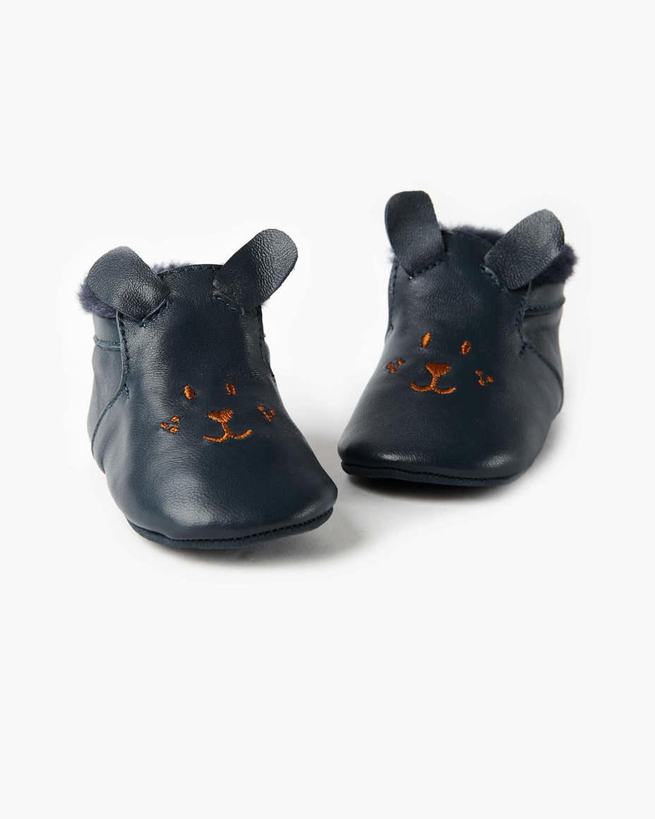 Maya Leather Bootie Navy | Trada Marketplace