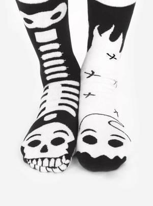 Ghost & Skeleton   Glow In The Dark   Collectible Mismatched Socks   Trada Marketplace