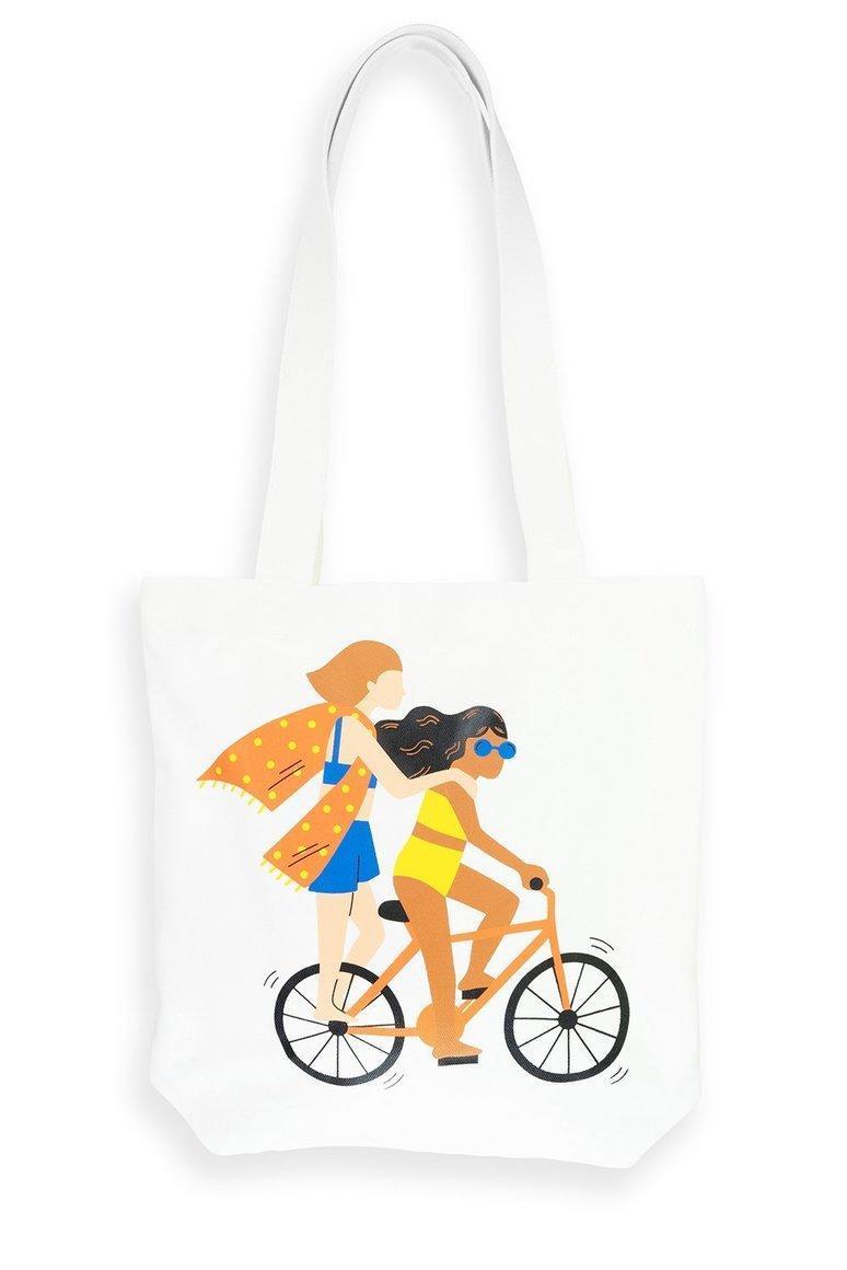 Bike Girls Tote Bag | Trada Marketplace