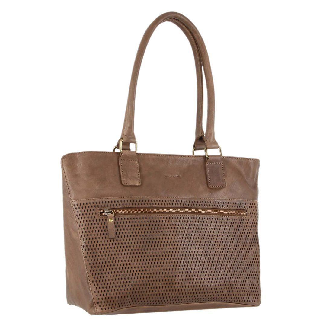 Pierre Cardin Perforated Leather Ladies Tote Handbag   Trada Marketplace