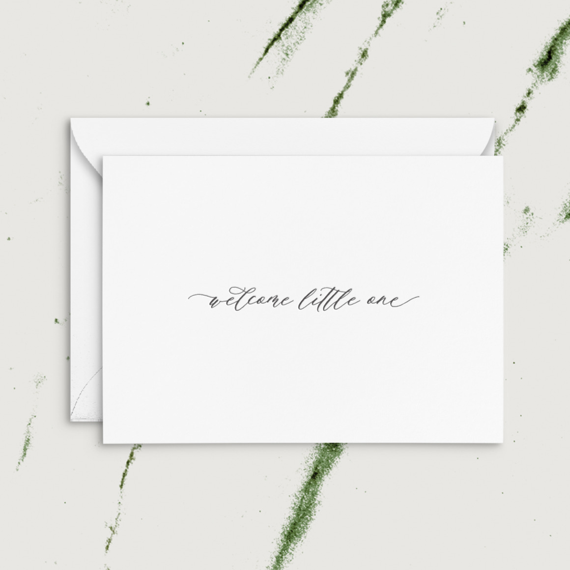 Welcome Little One   Letterpress Greeting Card   Trada Marketplace