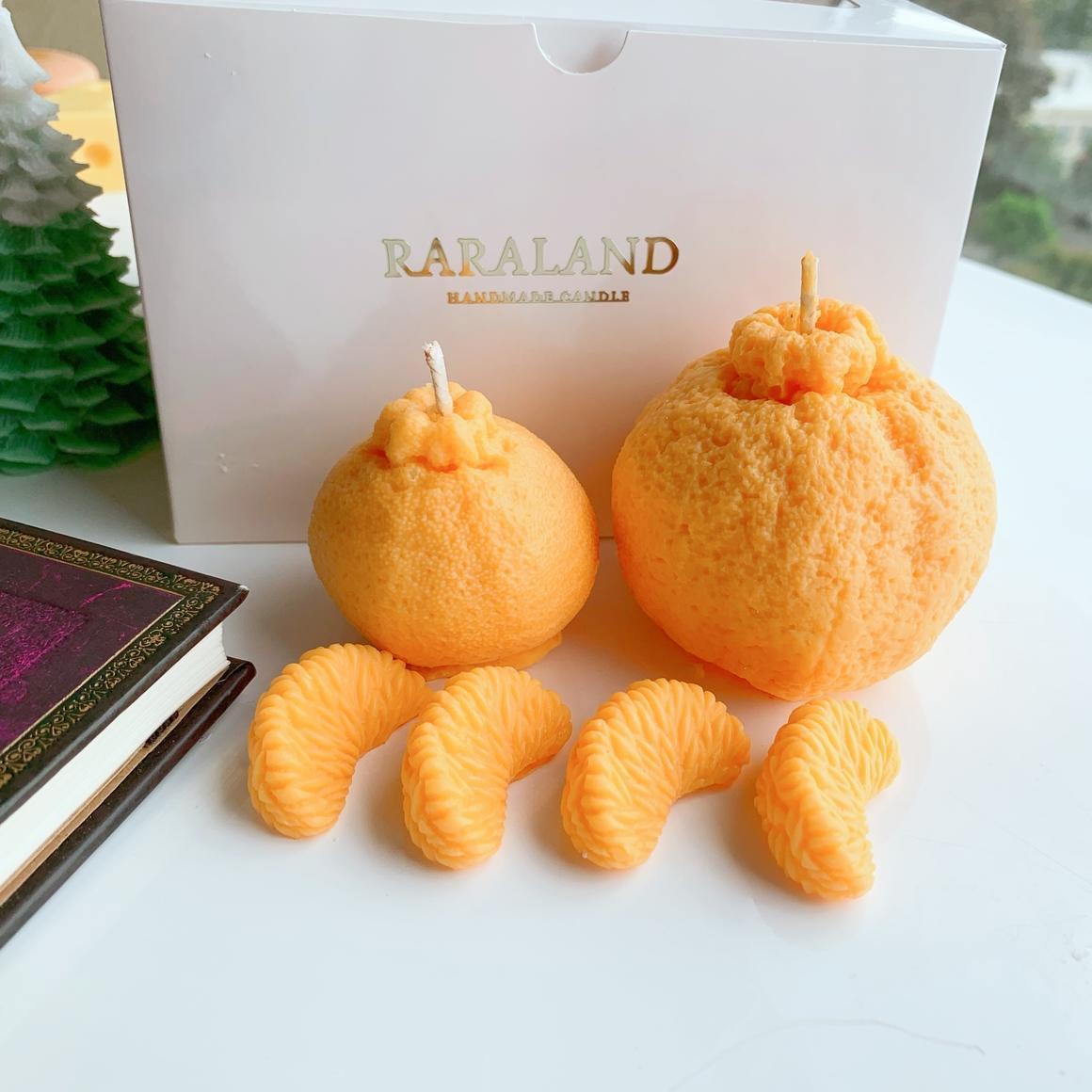 Mandarin Fruit Scented Candle| Large | Trada Marketplace