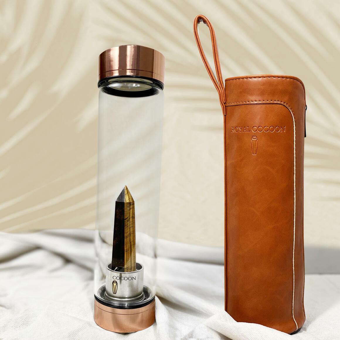 Tiger Eye ☽ Energy Rich Hydration Bottle - Rose Gold    Trada Marketplace