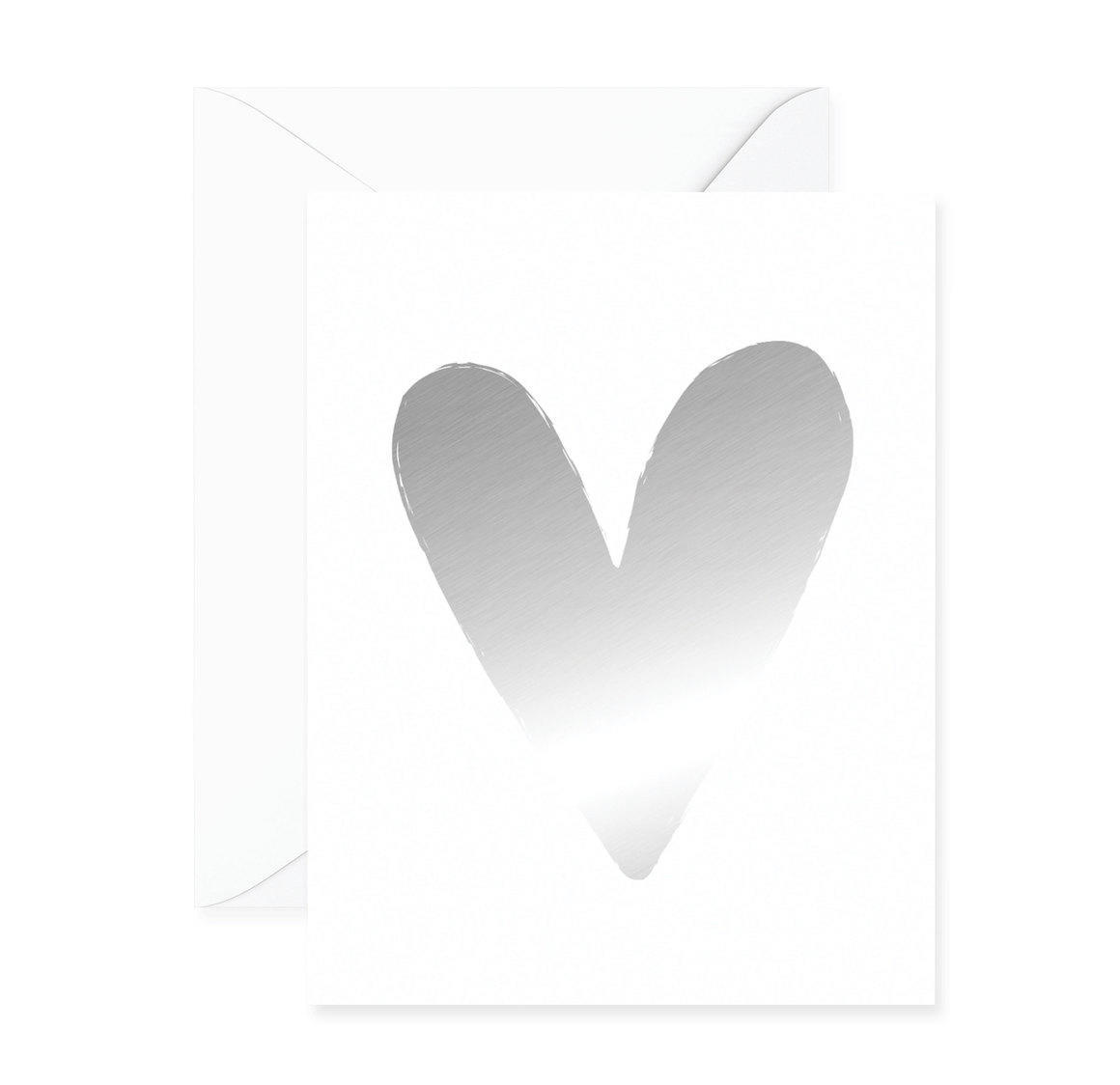 Heart Silver Foil Greeting Card | Trada Marketplace