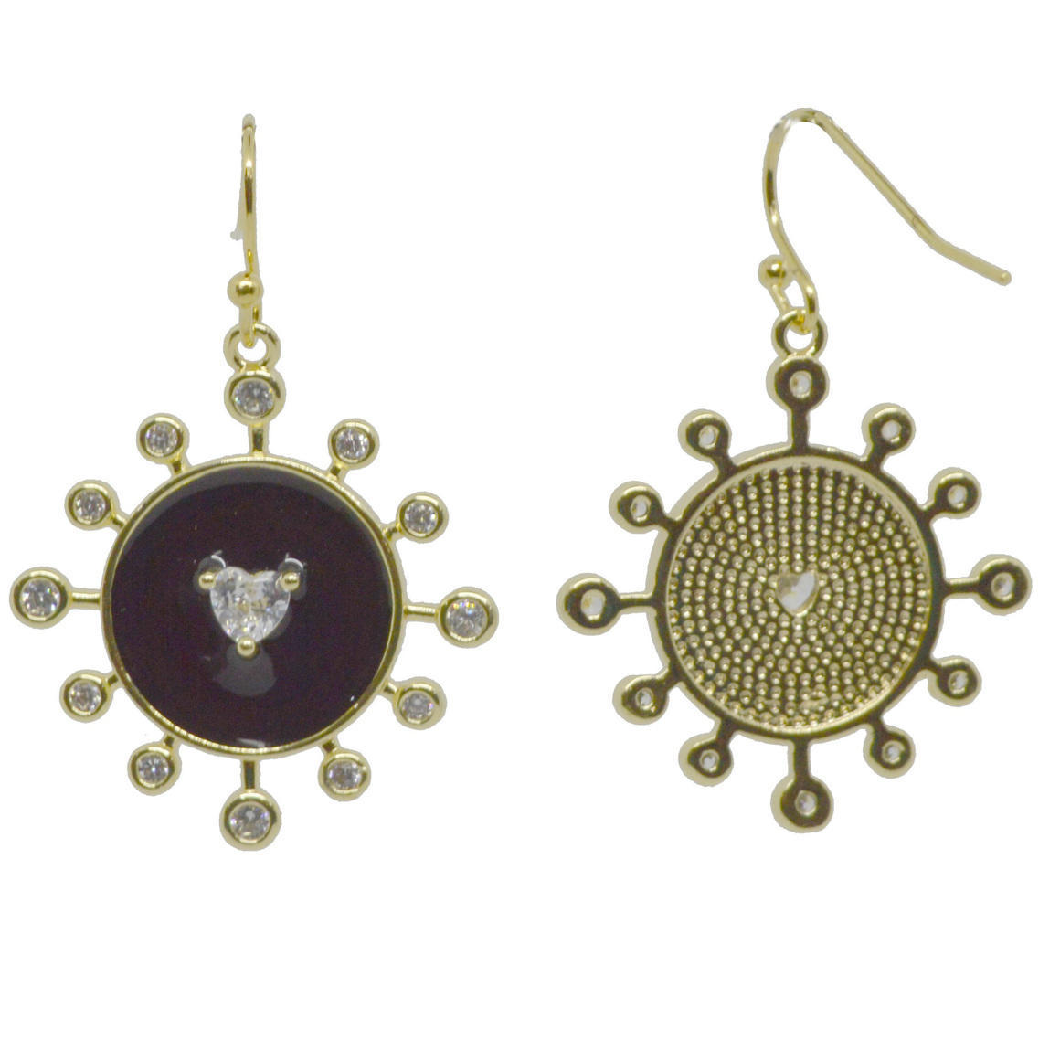 Sunshine Earring Black Gold | Trada Marketplace