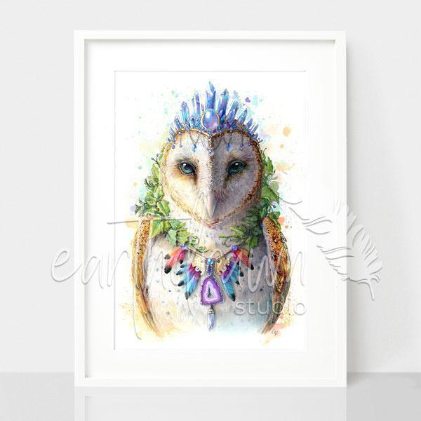 Bohemian Owl - Spirit Animal Series | Trada Marketplace
