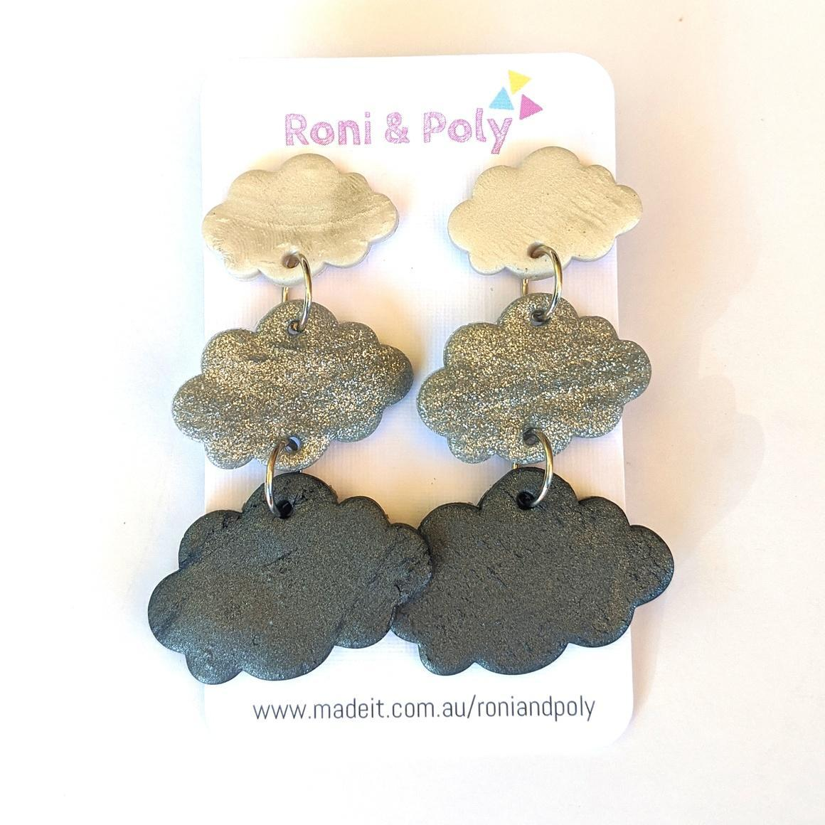 Cloudy with a Chance of Cute dangles   Trada Marketplace